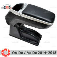Armrest forDatsun On-Do / Mi-Do 2014~2019 car arm rest central console leather storage box ashtray accessories car styling m2