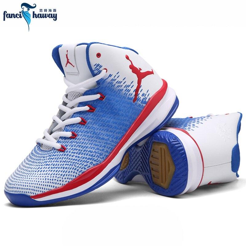 Chaussures de basket-ball FANCIHAWAY hommes Couple coussin professionnel rétro jordan antidérapant extérieur athlétisme Sport baskets