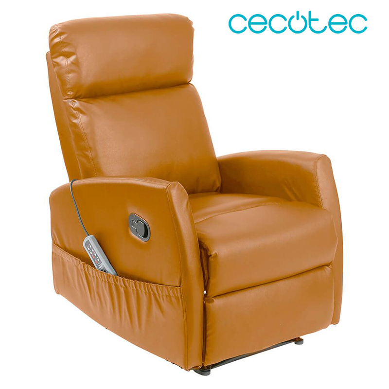 Cecotec Armchair Massage Multi Function Heat 5 Programs 5 Intensities Camel Brown Beige Black Material Leatherette