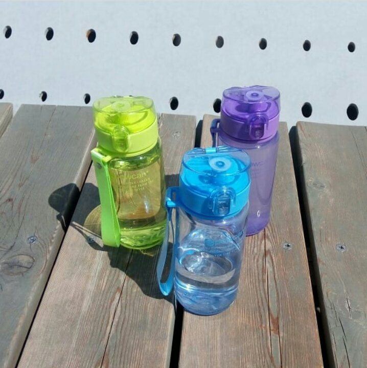 Water Bottle 400ml 560ml Plastic Gourde en Plastique Sport Direct Drinking Shaker Bottles Hiking Portable Bottle For Water-in Water Bottles from Home & Garden on AliExpress
