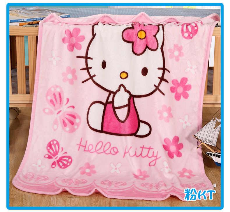 22afc12de ... 70x100cm Hot Sale Cute Hello Kitty Children Blanket Cartoon Baby Nap  Blanket School Blankets For Kids ...