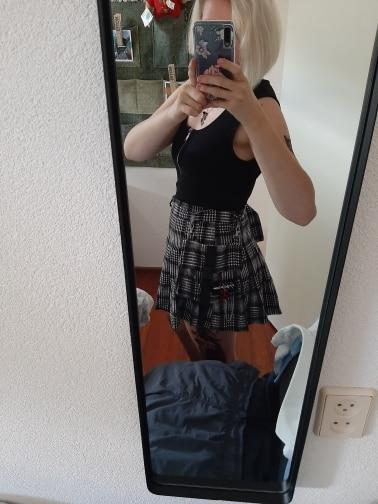 Preppy Style Women Skirts  Spring Summer Skirts Female High Waist Lace Up Big Hem Mini Skirt For Girls A Line Skirt photo review