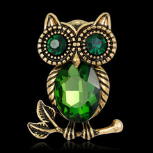 Donna Retro Strass Cartoon Owl Brooch di Pin Wedding Party Bridal Jewelry(China)