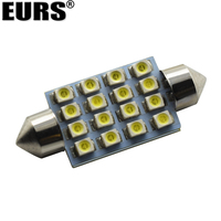 100pcs 200pcs White Beam 31mm 36mm 39mm 41mm 1210 3528 16SMD Auto LED Bulbs For Car Interior Lighting Reading Lights Dome Light