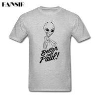 New Designing T Shirts Men White Short Sleeve Custom Alien Better Call Paul Group Tops Clothing
