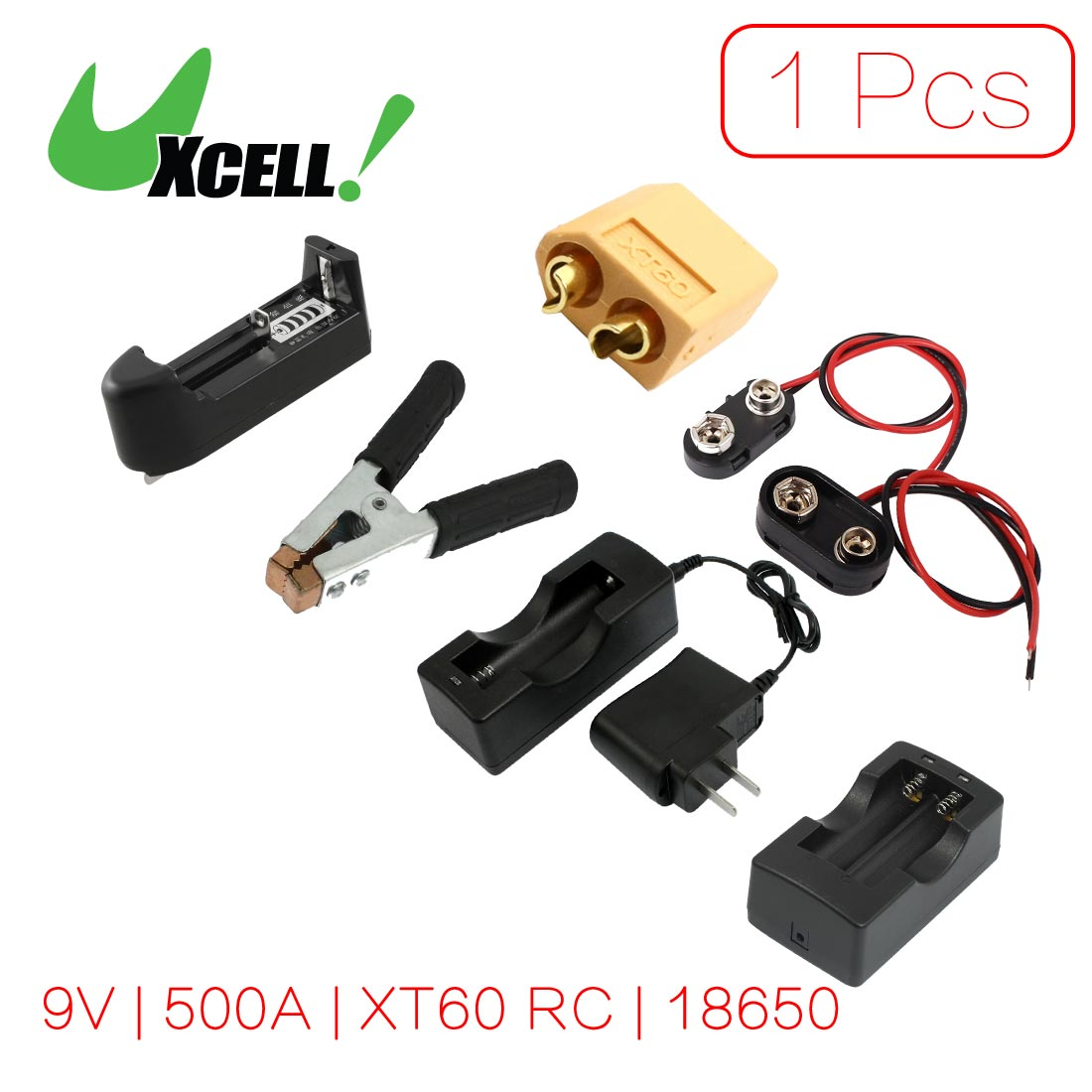 uxcell 9 volt block battery clip plastic t type cap diy. Black Bedroom Furniture Sets. Home Design Ideas