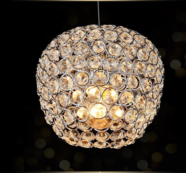 Modern chrome lustre Apple modeling LED Crystal chandelier crystal lamp E27/26 Chandelier Lighting Fixture Pendant Ceiling LampModern chrome lustre Apple modeling LED Crystal chandelier crystal lamp E27/26 Chandelier Lighting Fixture Pendant Ceiling Lamp