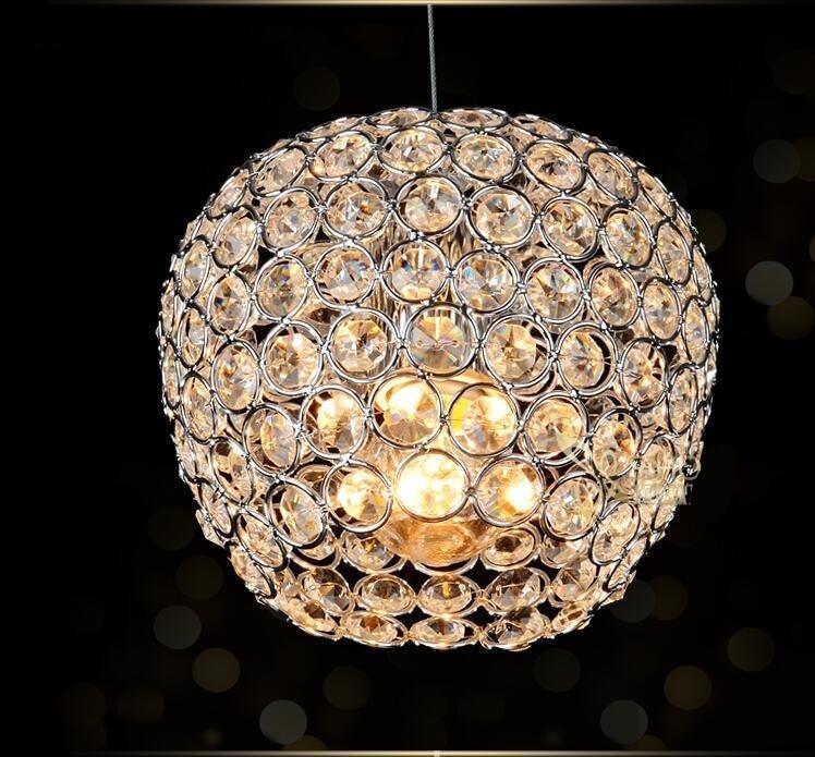 Modern Chrome Lustre Apple Modeling LED Crystal Chandelier Crystal Lamp E27/26 Chandelier Lighting Fixture Pendant Ceiling Lamp