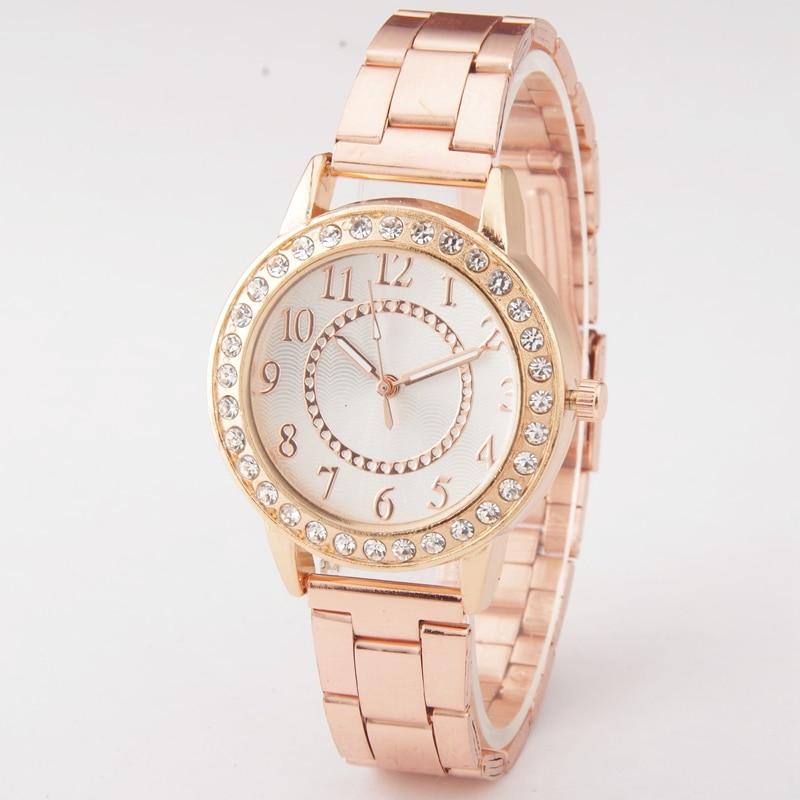 2018 New Fashion Brand Luxury Rose Gold Casual Quartz Watch Women Full Steel Watches Relogio Feminino Dress Wrist Watch relojes