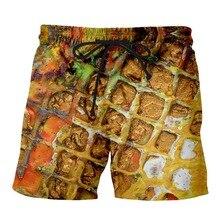 PLstar Cosmos 2019 Summer Men Funny Shorts Delicious Food Pisa 3D Trousers For Women/Men Regualr Plus Size S-7XL