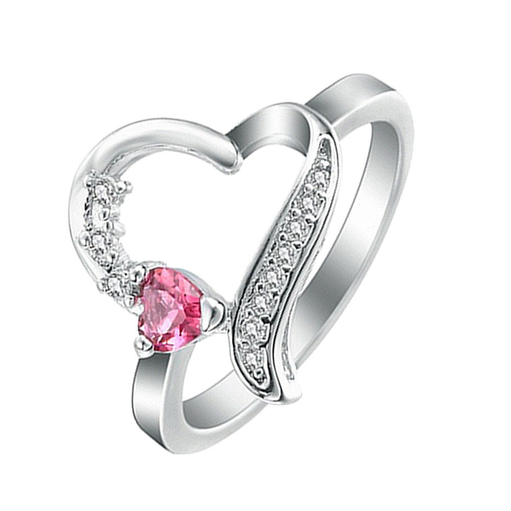 Red heart rings for women