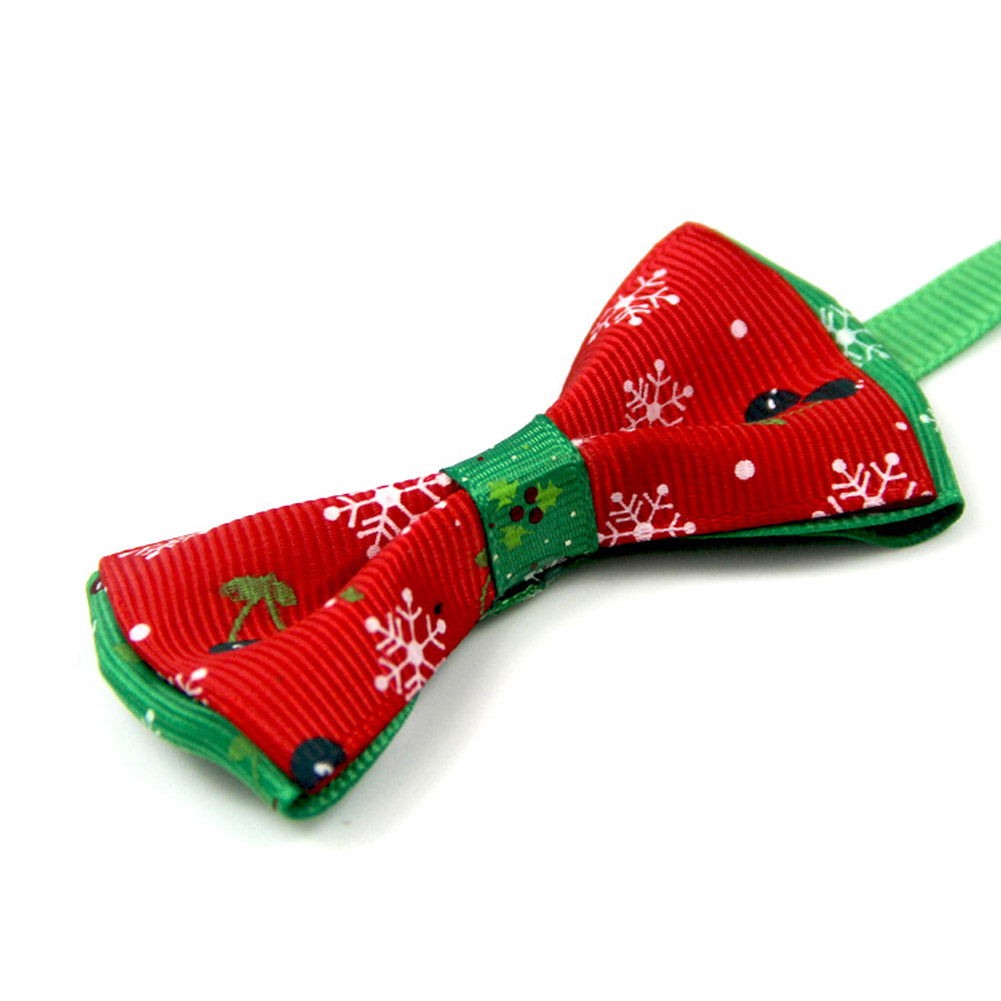 1 Pc Hot Sale Cats Dog Snowflake Tie Wedding Accessories Dogs Bowtie Collar Holiday Decoration Christmas Grooming Pet Supplies
