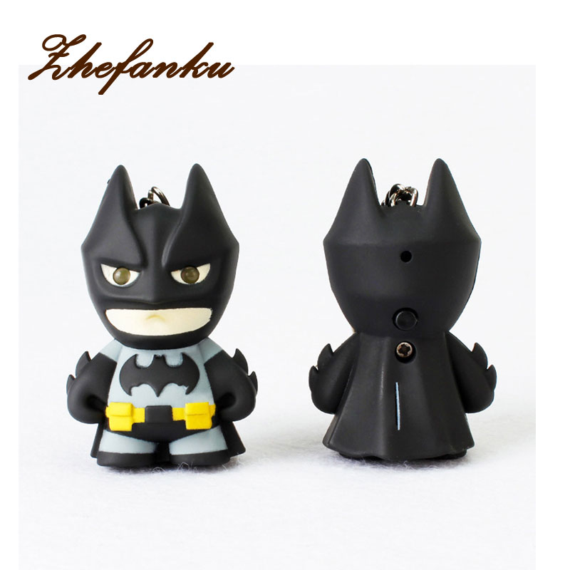 Led Keychain With Sound Exquisite Traditional Embroidery Art Jewelry Sets & More Reliable New Arrive Flashlight Keychain Figure Keyrings,cool Batman Keychain Batman Keychain