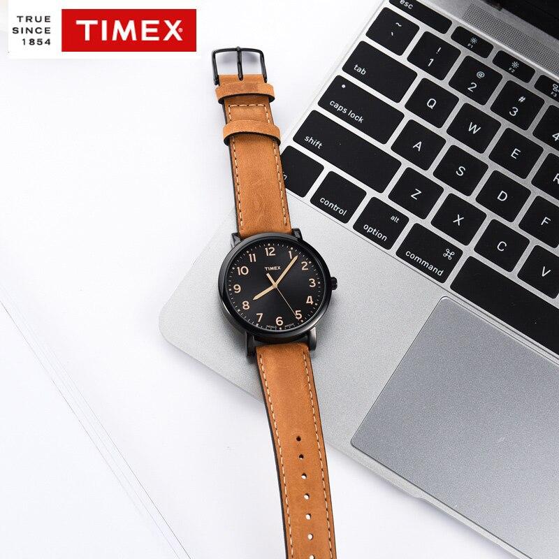 Timex original men watch quartz premium originals black tan mens watch t2n677 genuine leather for Black tan watch