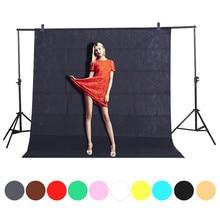 خلفية للستوديو للتصوير الفوتوغرافي Fotografia 2.6x 2/3/شاشة خضراء كروم خلفية خلفية للاستوديو إضاءة للصور غير منسوجة 10 ألوان