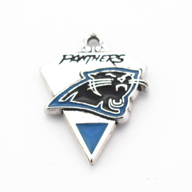 2018 New 10pcs/lot Panthers Football Team Dangle Charms Hanging Charm DIY Jewelry Accessories Necklace Pendant