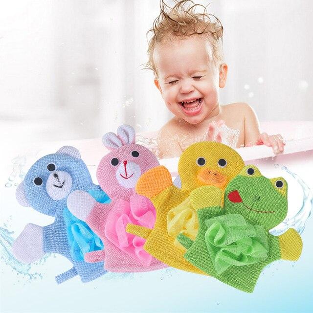 1 pz Carino Bambini Del Bambino spazzola da bagno doccia Esfoliante Scrub Guanto