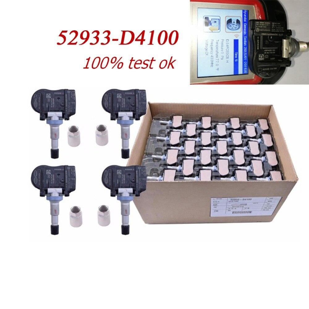 4 pcs NEW 52933 D4100 Original TPMS Tire Pressure Monitor Sensor 433 MHZ For Hyundai Accent Sonata Kia Optima Niro 52933D4100|Tire Pressure Monitor Systems| |  - title=