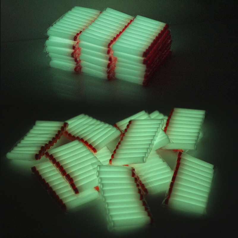50pc White Luminous For Nerf Bullets Soft Hollow Hole Head 7.2cm Refill Darts Toy Gun Bullets For Nerf Toys Kid Children Gift