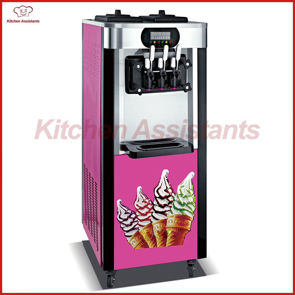 XQ25L electric free standing commercial soft ice cream maker making machine xq22x commerical electric soft ice cream maker making machine