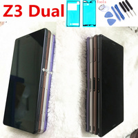 5.2 For SONY Xperia Z3 LCD Display Touch Screen with Frame For SONY Xperia Z3 Dual LCD D6603 D6633 D6653 L55T D6683 D6616 LCD