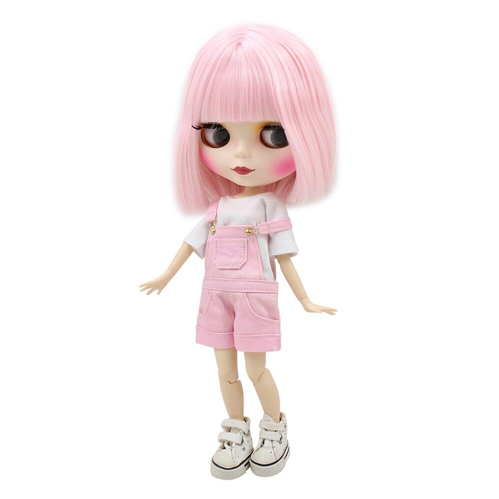 Фабрика Блит куклы короткие бледно-розовые волосы матовый лицо совместное/нормальный тела белая кожа 130BL2352 1/6 30 см