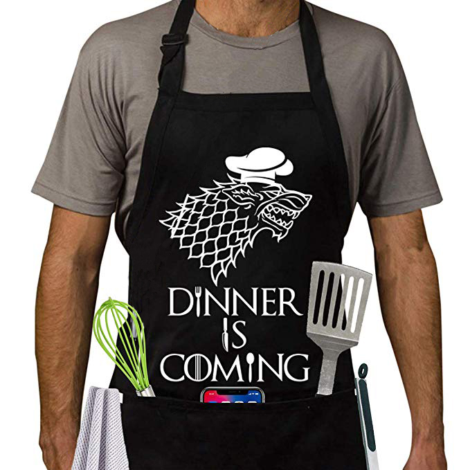 GOT Apron | Games Of Thrones Style Kitchen Apron | Dinner Is Coming BBQ & Cooking Apron(China)