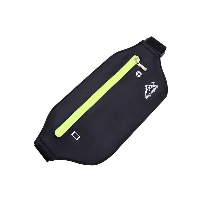 Professional Running Waist Pouch Belt Sport Belt Mobile Phone Men Women With Hidden Pouch Gym Bags Elastic Running Waist Belt