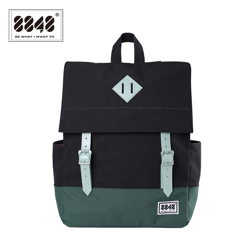 8848 Women Schoolbags New Fashion Waterproof Knapsack Teenager School Bags For Girls Rucksack Black Mochila Escolar 173-002-029