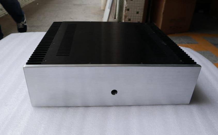 BZ4312F tout aluminium classe A amplificateur de puissance châssis refroidissement boîte Audio des deux côtés bricolage AMP Case 430 MM * 120 MM * 411 MM
