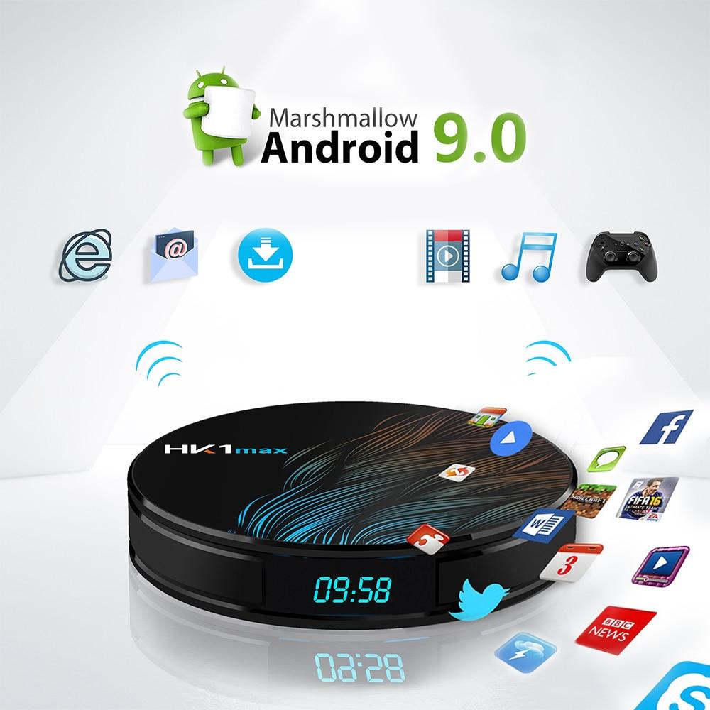Android 9 0 TV box HK1max smart TV box support IPTV subscription 4K RK3328 4G ram