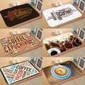 Anderes Braun Kaffee Writen Topf 3d Digital Drucken Moderne Dekorative Boden Tür Matte Wohnkultur Eingangsbereich Küche 50x80 cm