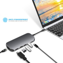 LTGEM USB 3.0 5Gbps Type C to HDMI+VGA HUB Adapter For Macbook Pro Converter