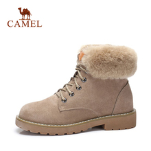 CAMEL Short Boots For Women 2018 Winter Fashion Ankle Boots Shoes Women Keep Warm Comfortable Shoe For Ladies