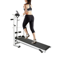 Strong Toyers Treadmill Multifunction Mute Fitness Equipment Run Belt Treadmill 3 In 1 Twisting Waist Machine 300kg Bearing HWC