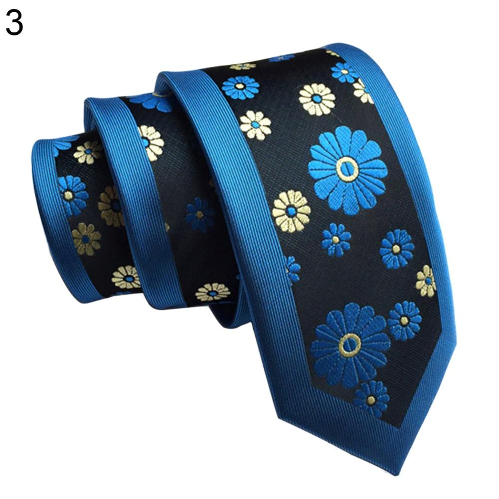 Wedding Party Fashion Floral Striped Necktie Business Men Tie Suit Accessory