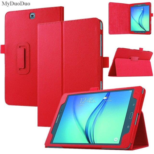 """Funda De Tablet A la moda para Samsung Galaxy Tab A 8,0 T350 T355 SM-T350 8 """"soporte abatible PU cuero sólido inteligente cubiertas de protección caso"""