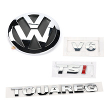 Rear Badge Boot Chrome Emblem V6 TSI TOUAREG 1set for VW Touareg 2003-2010 7L6 853 630 A