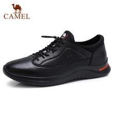 낙타 새로운 남성 캐주얼 신발 정품 가죽 패션 남자 신발 소프트 유연한 경량 폼 하단 남자 신발