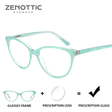 ZENOTTIC Cat Eye Acetate Prescription Glasses Women Optical