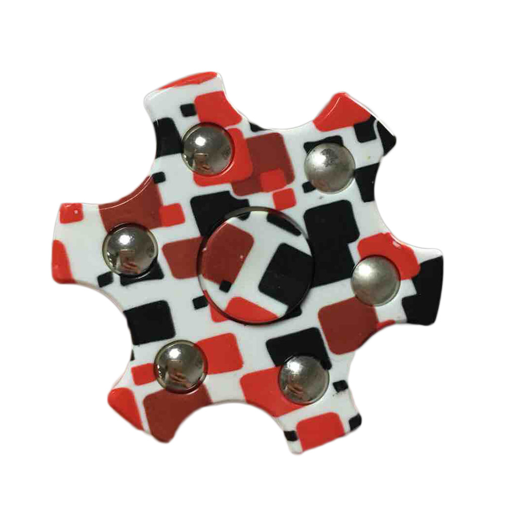 2017 Hot Fidget Spinner Hexagonal Fidget EDC HandSpinner Anti Stress Reliever ADAD Six Star Hand Spinners Stress Relief Toy