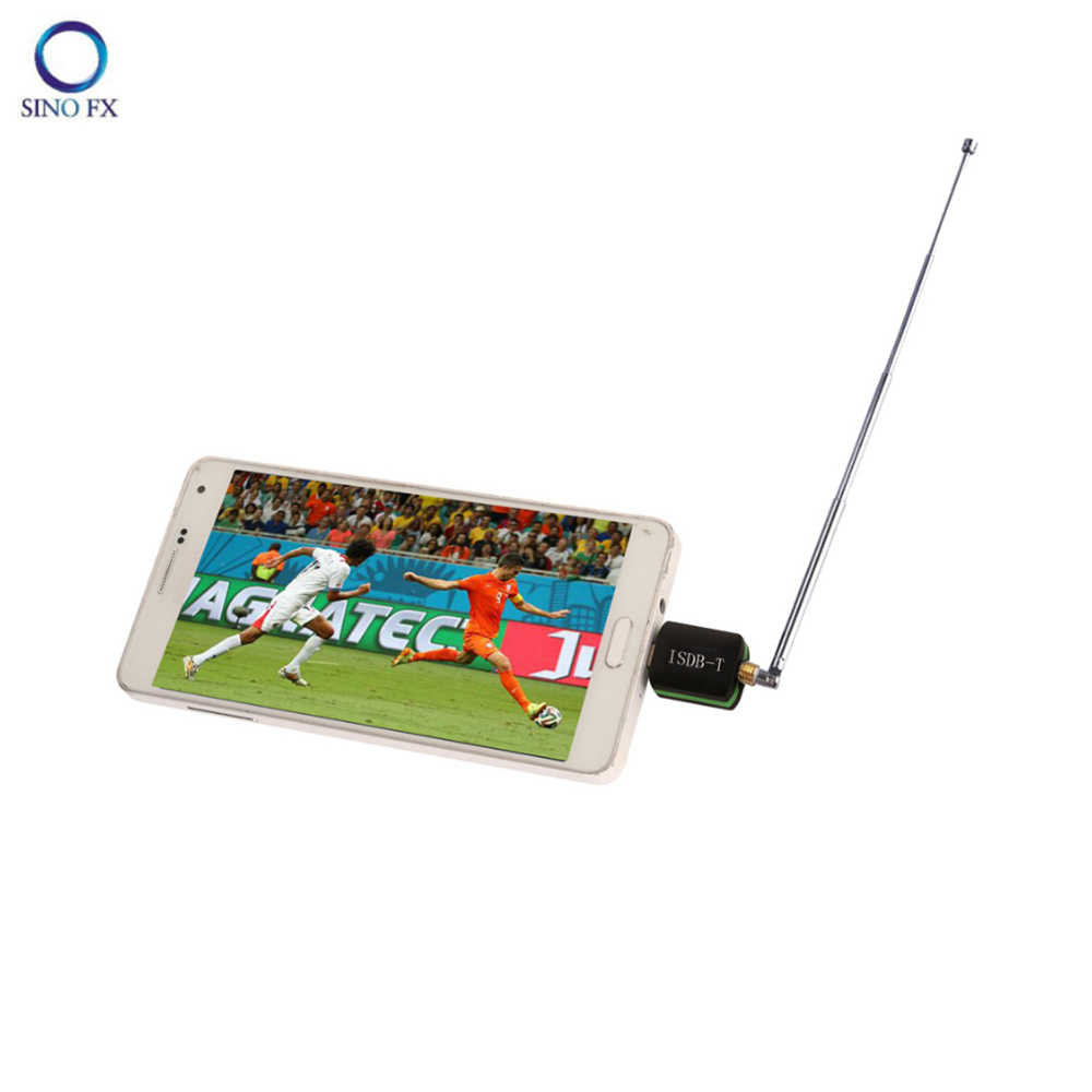 ISDB-T Draagbare Freeview HD TV Ontvanger Micro USB TV Tuner voor Android telefoon/pad voor Brazilië Japan Filippijnen Argentinië peru