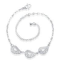 2017 hot salebeach jewelry925 sterling sivler anklet bracelets for women chaine de pied