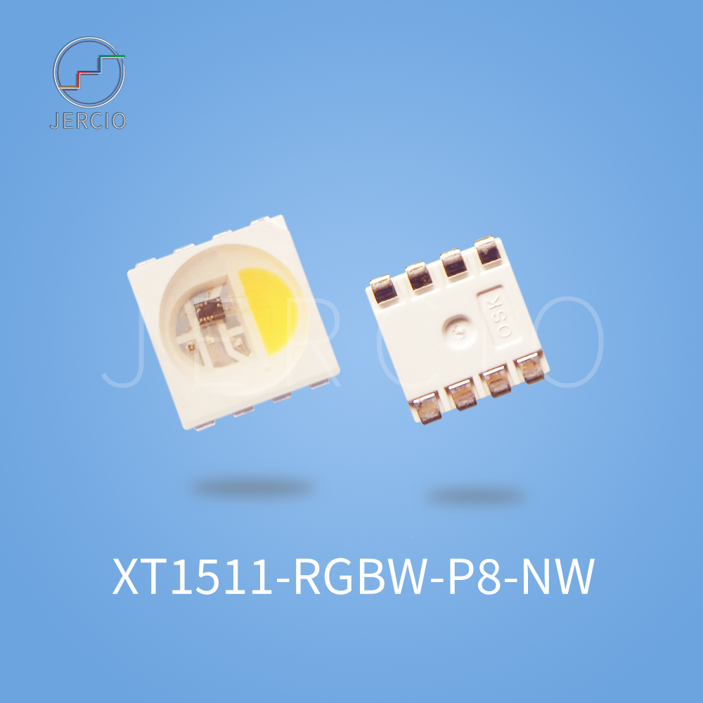 Jercio 50~1000pcs XT1511-RGBW-P8 (Similar With WS2812b Or SK6812)DC12V Programmable  Individually Addressable SMD LED