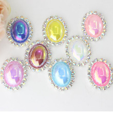 25mm Colorful Diamond Rhinestones For Women Clothing Button Hand Made Botones Madera Sewing Accessories Botoes Scrapbook