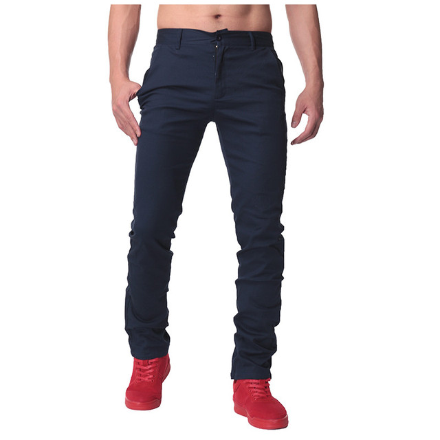 341eb09d8650 Size 30-44 Mens Straight Cargo Pants Chinos Men Casual Business Slim Fit  Autumn Spring