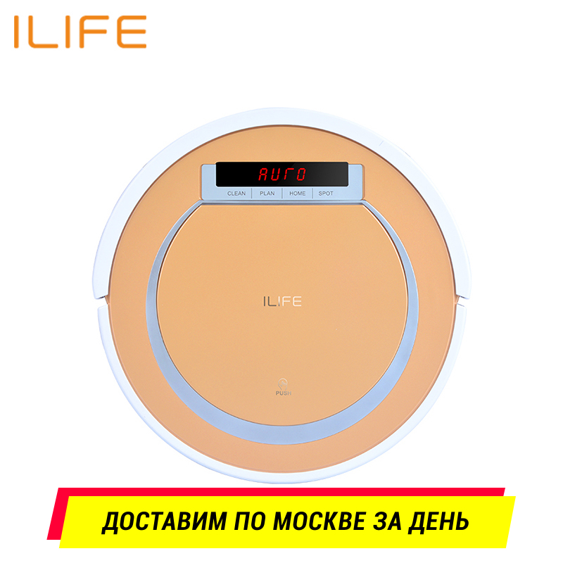 Robot vacuum cleaner ILIFE V55 robot wireless handheld vacuum cleaner cleaning for home 2600 mah free for russian buyer 4 in 1 multifunctional robot vacuum cleaner with virtual blocker self charging lcd touch liectroux