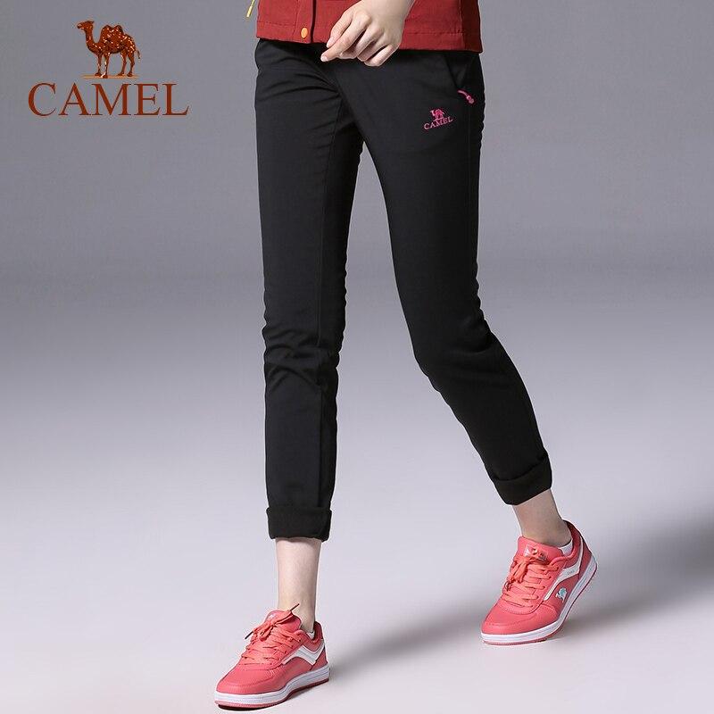 CAMEL Women Outdoor Hiking Pants Waterproof Windproof Fleece Inner Thermal Sport Climbing Tactical Trekking Trousers