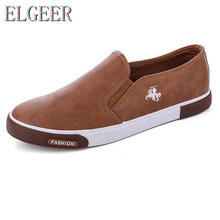 ELGEER 2018 Spring new mens casual shoes flat bottom breathable fashion classic outdoor canvas