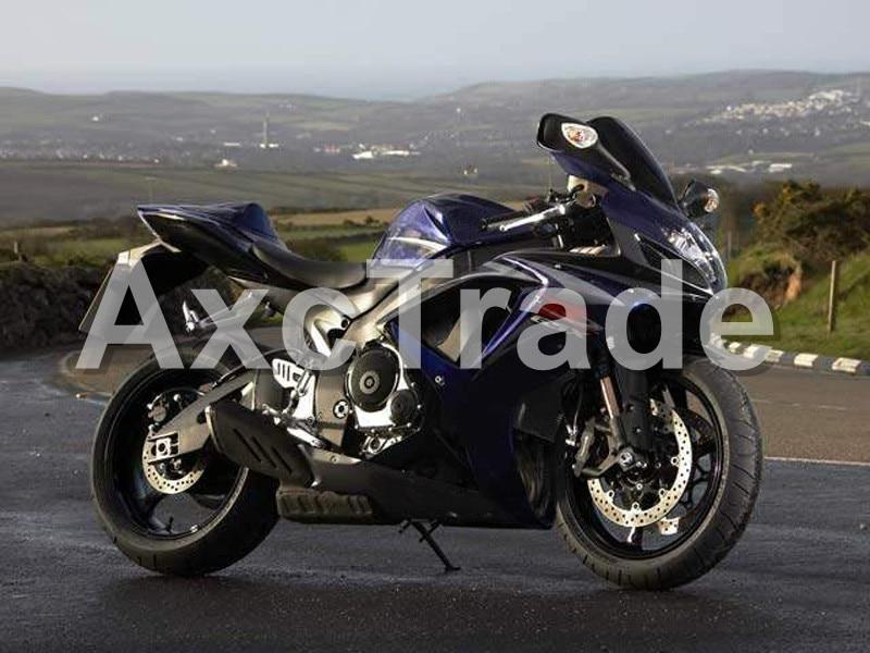 Мотоцикл Обтекатели для Suzuki GSXR системы GSX-Р 600 750 GSXR600 GSXR750 2006 2007 К6 АБС-пластик инъекции обтекатель кузова темно-синий с